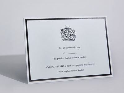 Stephen Williams London gift card
